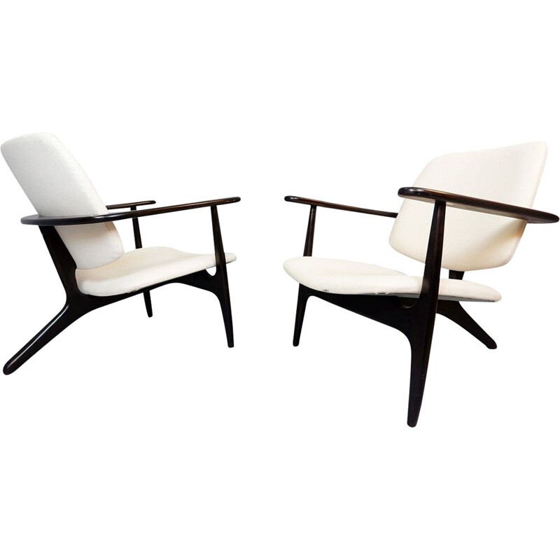 Pair Of Alfred Hendrickx S3 Vintage Armchairs For Belform