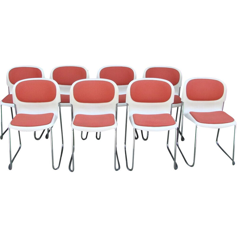 Set of 8 vintage chairs Drabert SM400K, Germany 1990s