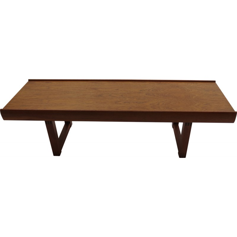 bruksbo scandinavian coffee table in teak, torbjørn afdal - 1960s