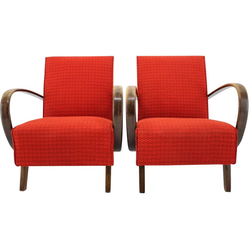 Pair of  armchairs  by Jindřich Halabala, 1950s