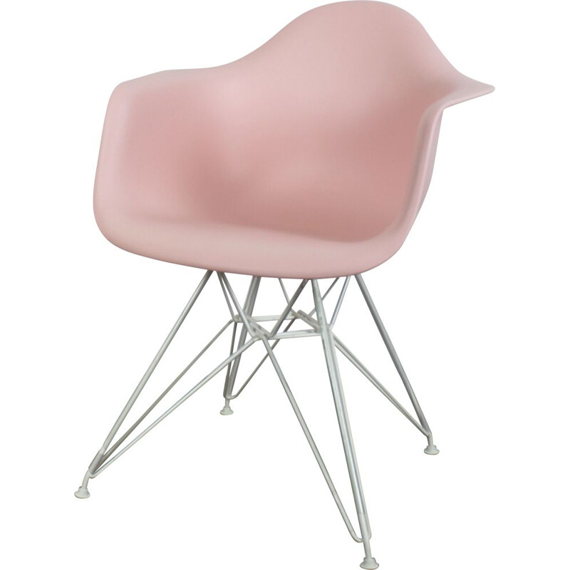 Vintage Plastic DAR armchair rosè, Charles Eames for Vitra