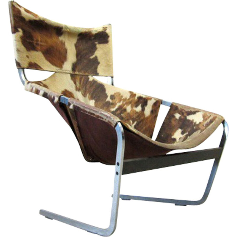 "Artifort ""F444"" armchair in cowhide, Pierre PAULIN - 1963"