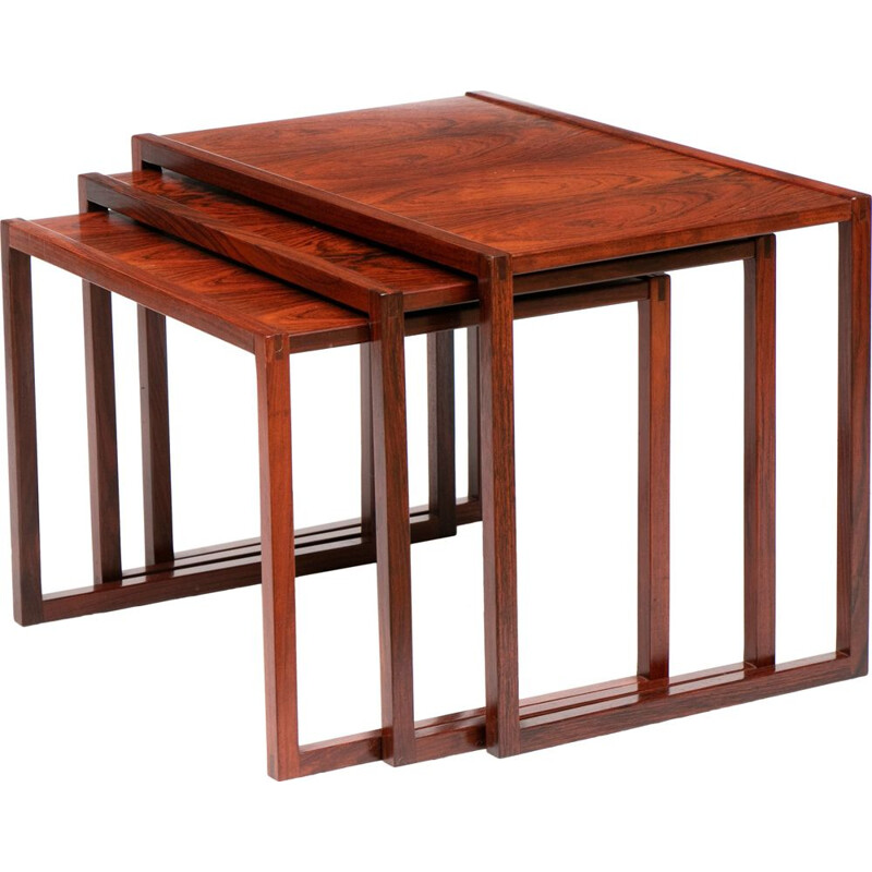 Vintage Nesting Tables Rosewood by Kai Kristiansen for Vildbjerg Mobelfabrik Danish