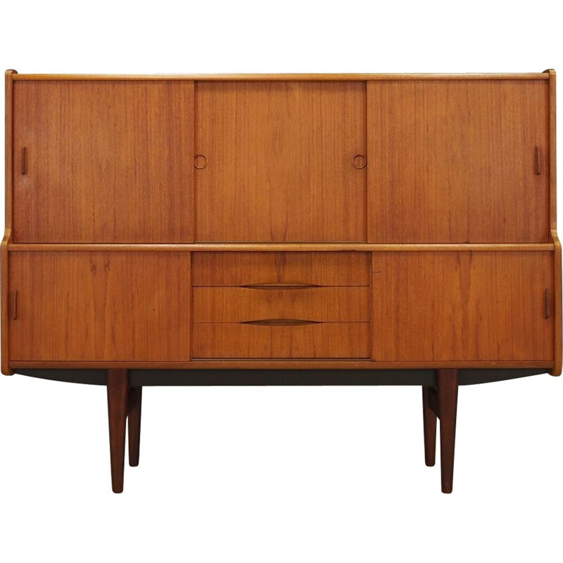 Vintage highboard teak Danish 1970s