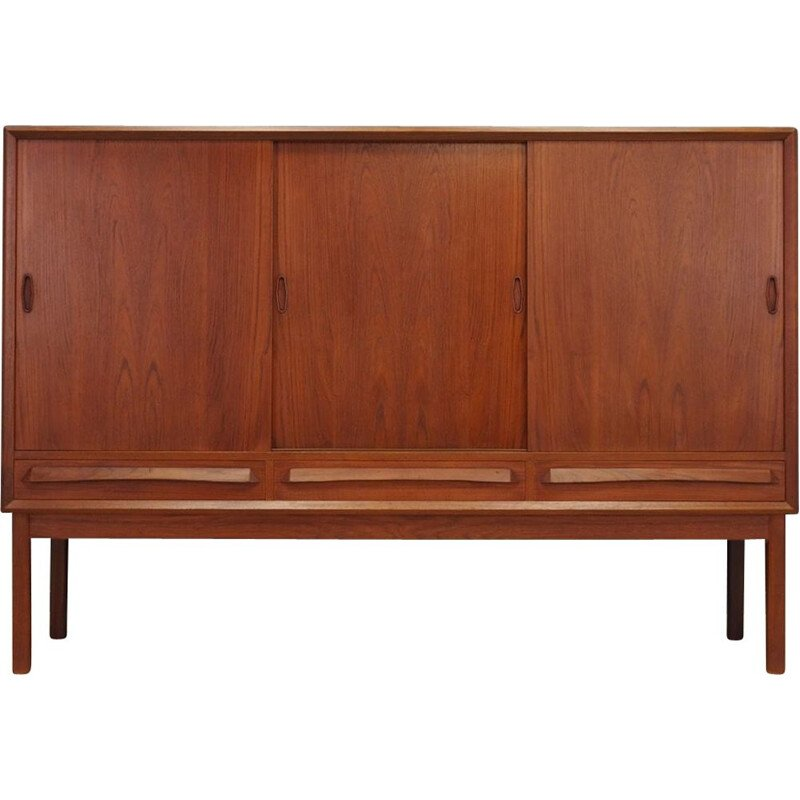 Vintage highboard teak Scandinavian 1970s