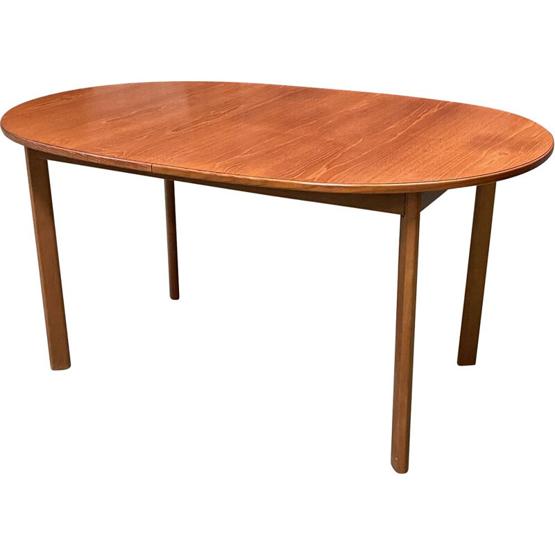 Vintage teak table with butterfly extension 1970