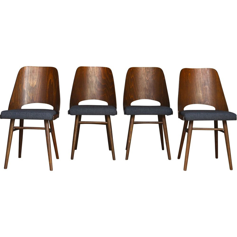 Set of 4 vintage dining chairs, Ton 1960