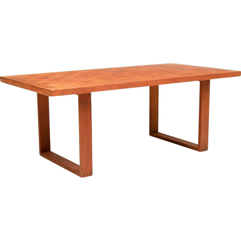 Vintage Chequered Teak Coffee Table by Paul Cadovius, France & Son Danish