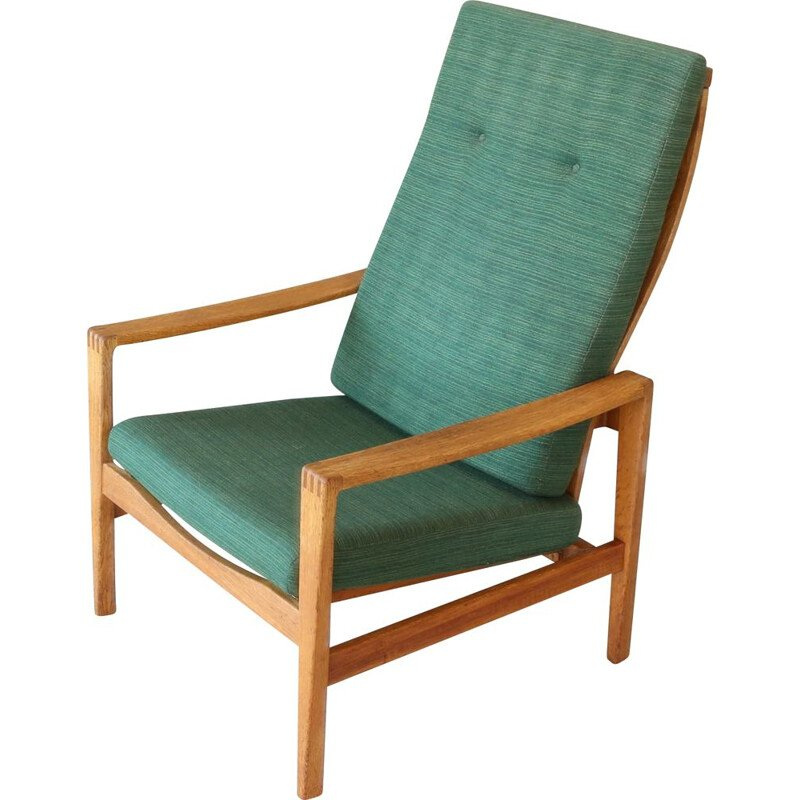 Vintage Chair + Stool  Wilkhahn Eiche Sessel + Hocker 1960s