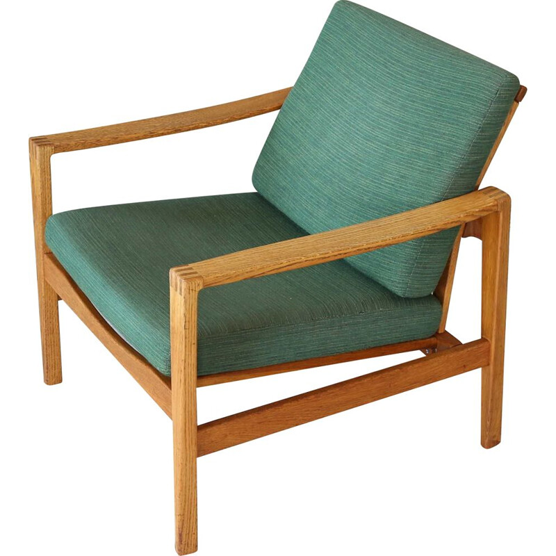 Vintage Easy Chair Oak  Wilkhahn Eiche Sessel 1950s