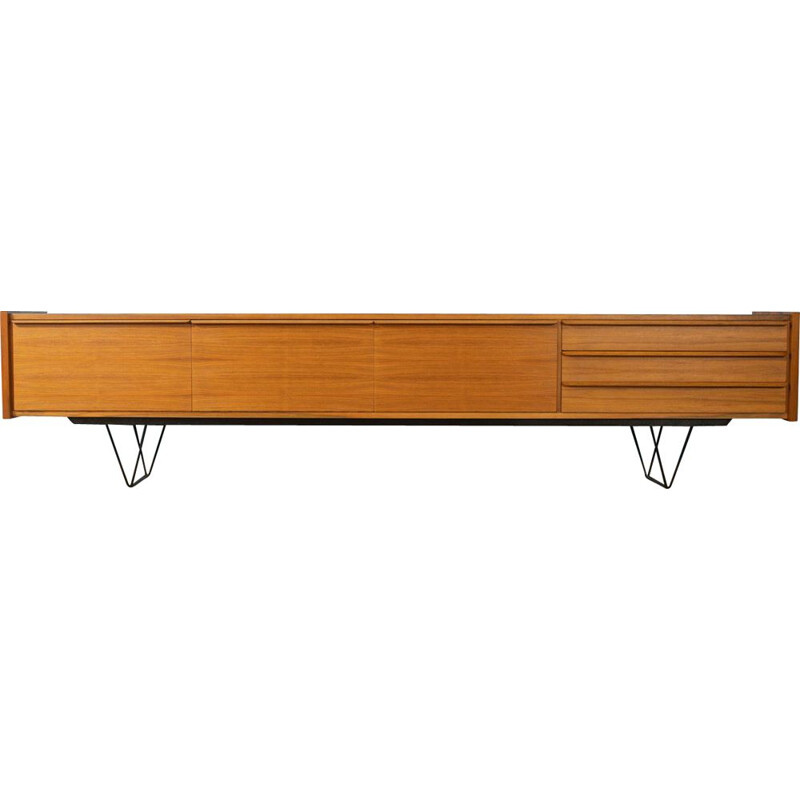 Vintage low Sideboard walnut 1960s