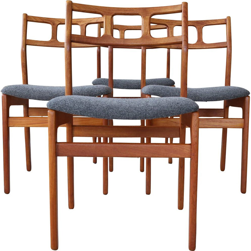 Set of 4 Vintage Dining Chairs, Denmark 1960