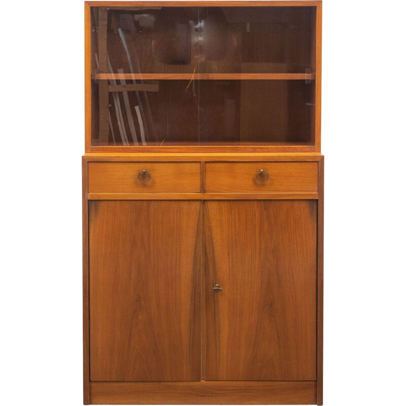 Two-part Vintage  display cabinet 1950s