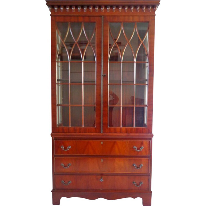 Vintage Bookcase Cabinet English 1900