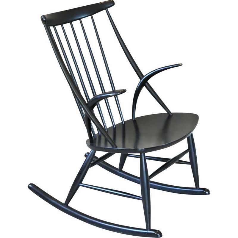 Vintage Rocking Chair, Illum Wikkelso, Danish 1960