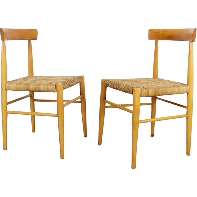Pair of dining chairs by ULUV  Czechoslovakia 1960