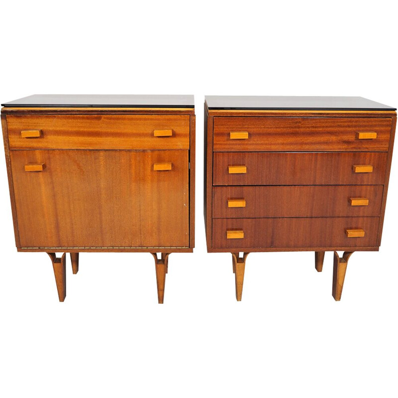 Pair of Vintage nightstands Scandinavian 1970s