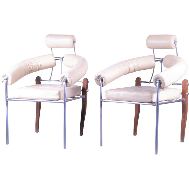 Pair of Vintage Swiss Pirmin Chair - Heinz Julen, 1990s