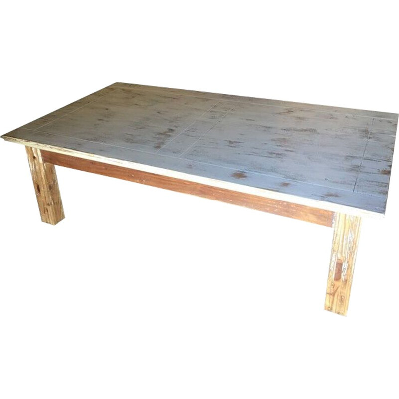 Large vintage wooden coffee table 1990