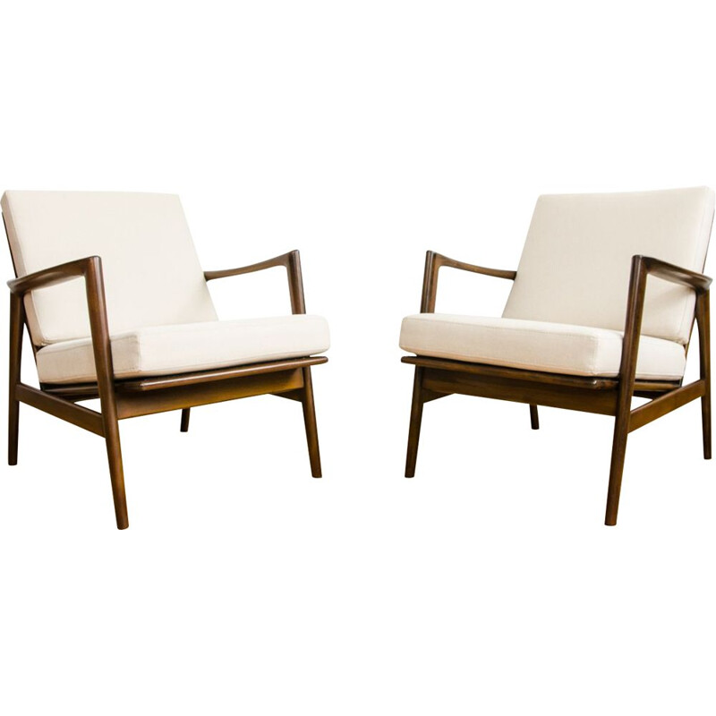 Pair Of Mid Century Armchairs 1960s
