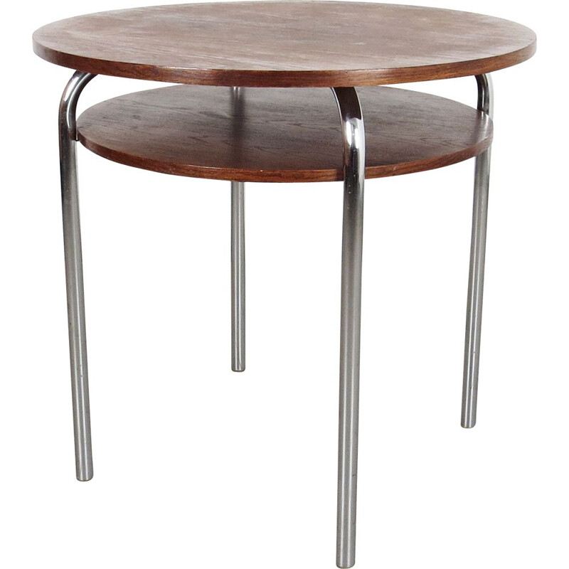 Vintage Tubular coffe table  by Robert Slezak Czechoslovakia 1930s