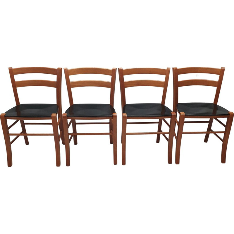 Set of 4 vintage Marocca dining chairs by Vico Magistretti for DePadova, 1987