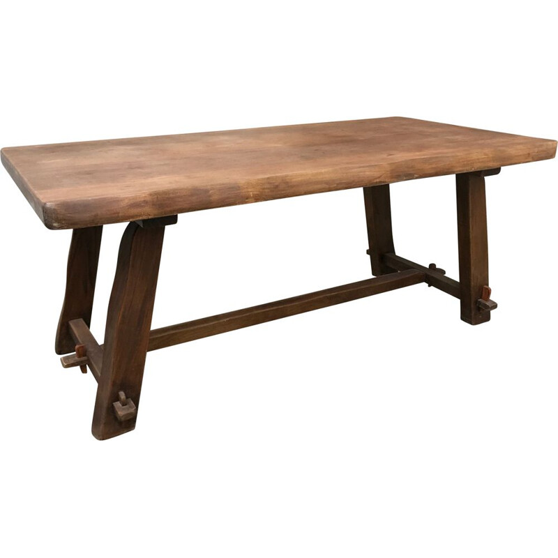 Vintage solid Elm table - 1970