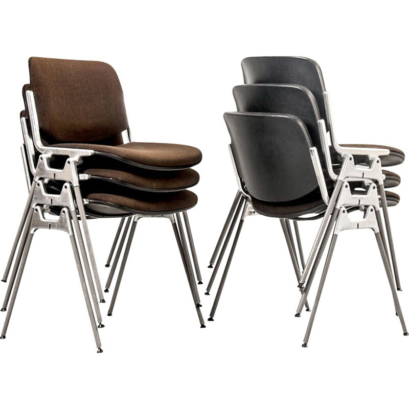 Set of 6 vintage chairs DSC 106 by Giancarlo Piretti for Castelli, Italy 1960s
