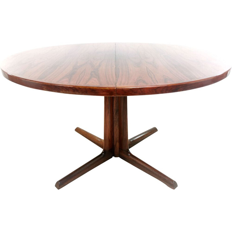 Mid Century Rosewood Extending Dining Table Gudme Mobelfabrik  Danish 1960s