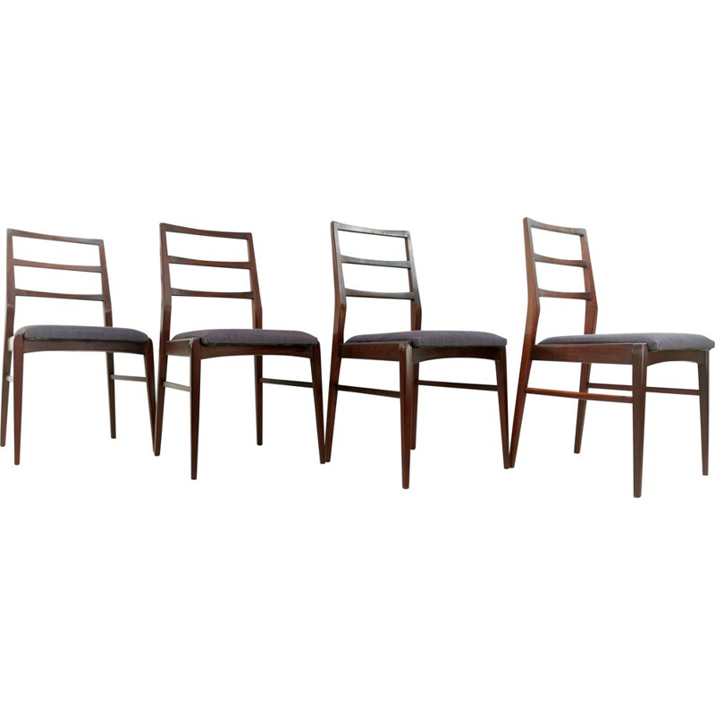Set of 4 Vintage Teak Dining Chairs Afromosia By Richard Hornby For Fyne Ladye 1960s