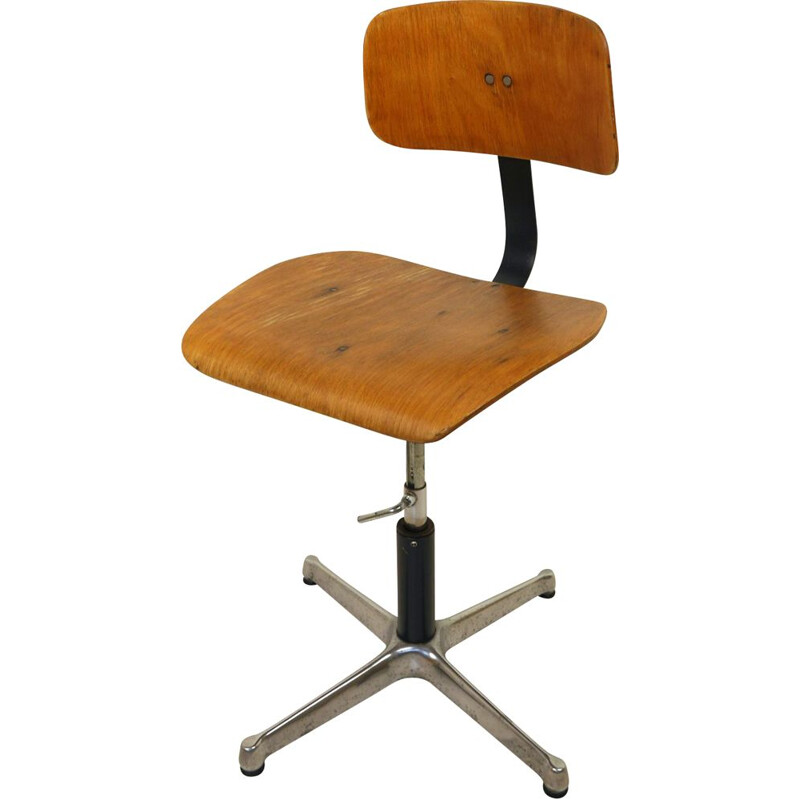 Vintage Architects Swivel Chair from Drabert, Germany, 1940s