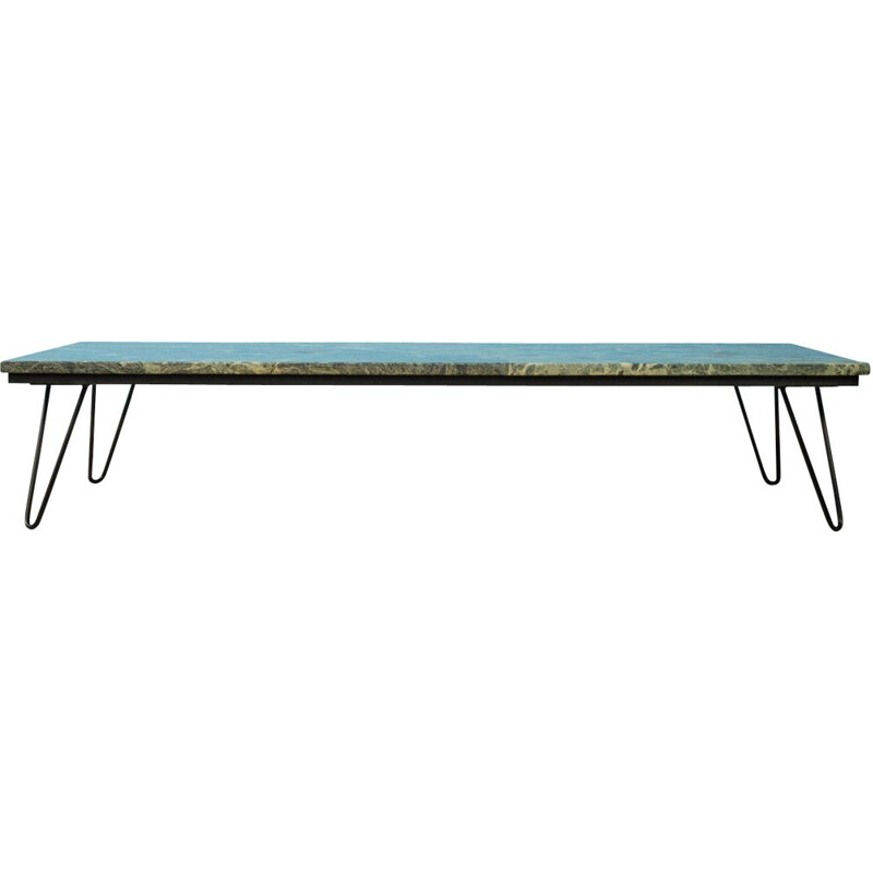Vintage Coffee table  with a marble Germany 1960