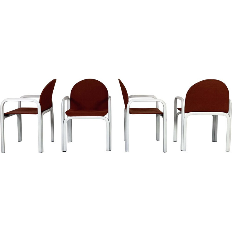 Set of 4 vintage  Orsay Armchairs by Gae Aulenti for Knoll, 1970s