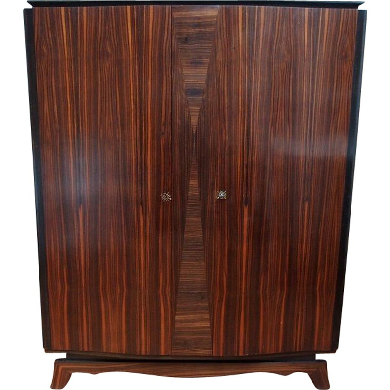 Vintage rosewood wardrobe from Rio Art Deco