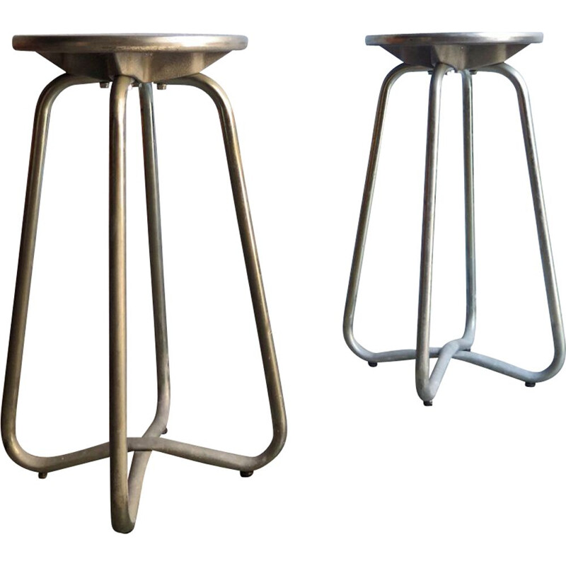 Pair of vintage high vintage stools, 1970
