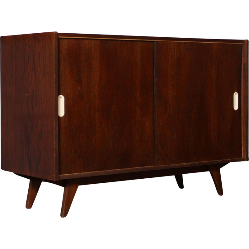 Vintage oak chest of drawers model U-452 by Jiri Jiroutek 1960