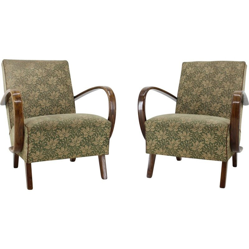 Pair of vintage armchairs by Jindřich Halabala, 1950s