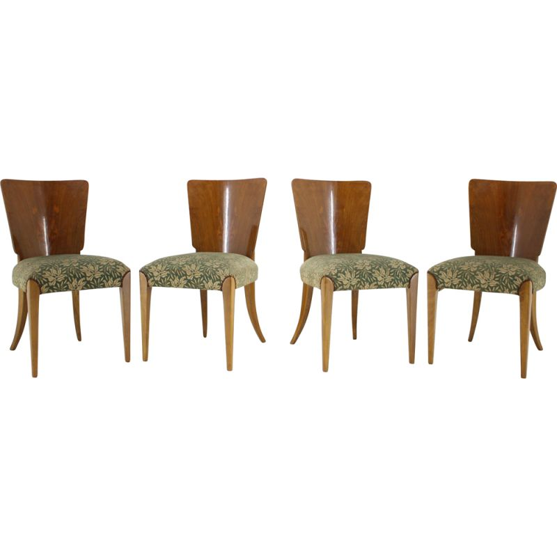 Set of 4 Vintage Art Deco dining chairs by Jindrich Halabala for UP Závody