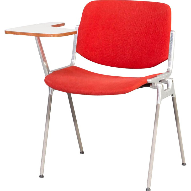 Vintage Giancarlo Piretti chair with writing top for Castelli 1960