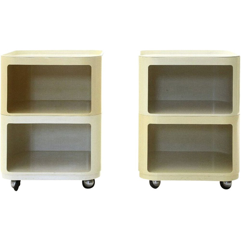 Pair of vintage Square Componibili Containers by Anna Castelli Ferrieri for Kartell, 1970s