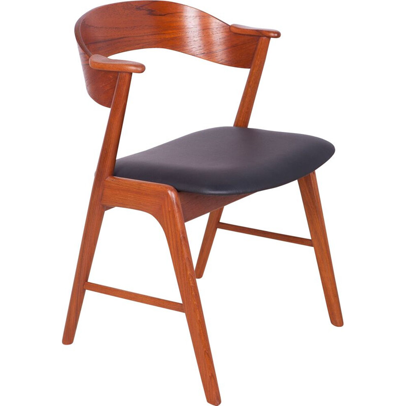 Vintage Model 32 Teak Dining Chair by Kai Kristiansen for Korup Stolefabrik 1960