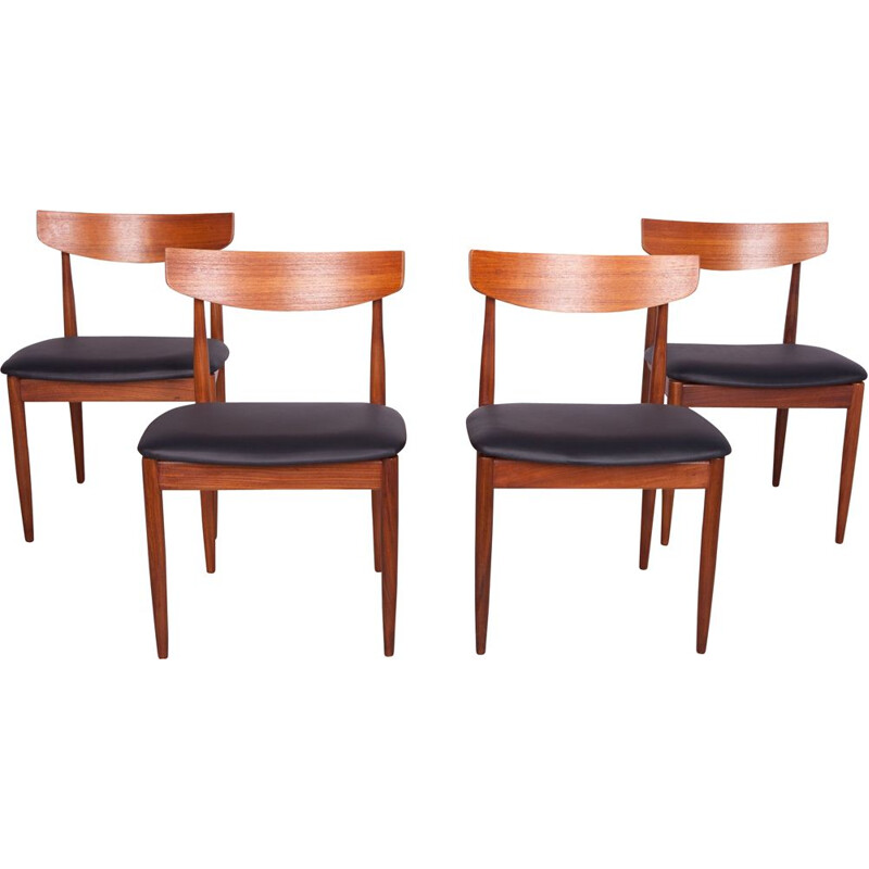Set of 4 Vintage Teak Dining Chairs by Ib Kofod Larsen for G-Plan, 1960s