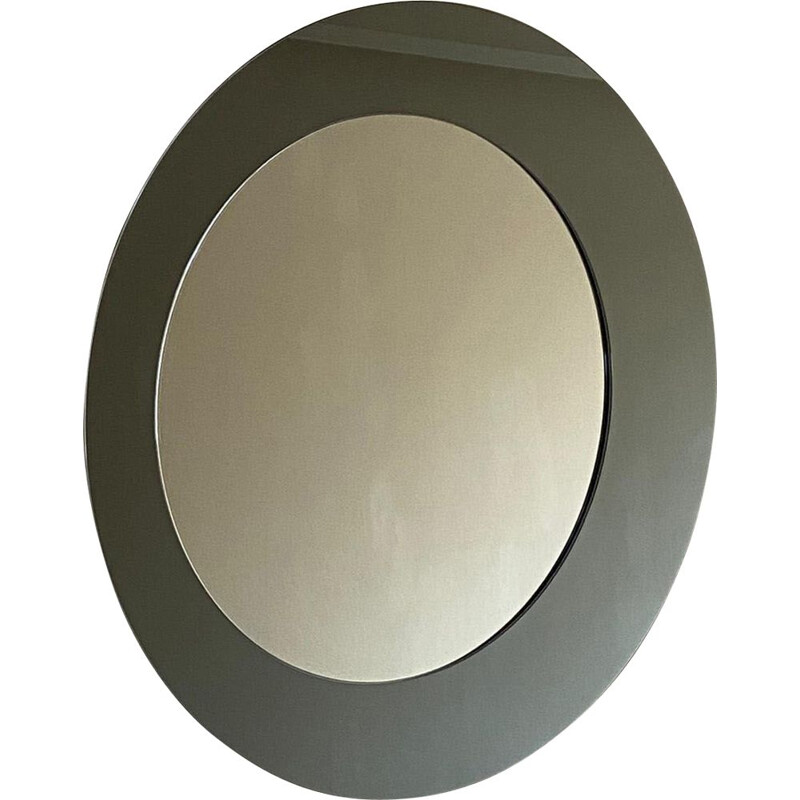 Vintage Mirror Oblò, Round Shape, Contemporary  in Glass, Italy