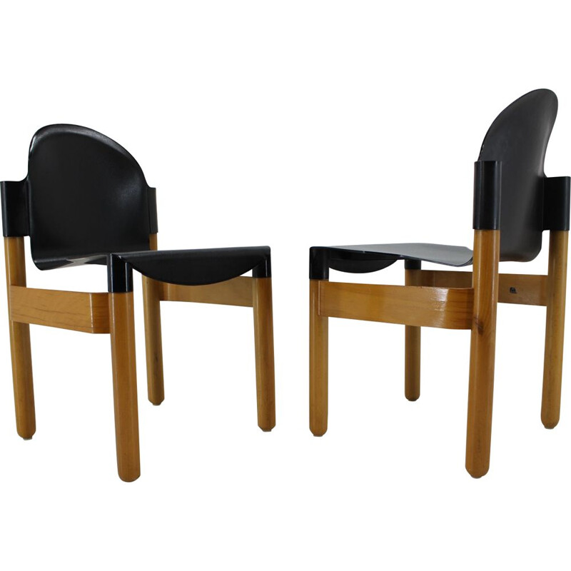 Pair of Mid Century Chair FLEX by Gerd Lange for Thonet, Germany, 1970s