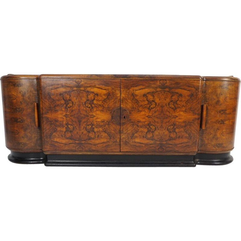 Vintage Walnut Veneer Buffet by Jindřich Halabala for UP Závody, 1930s