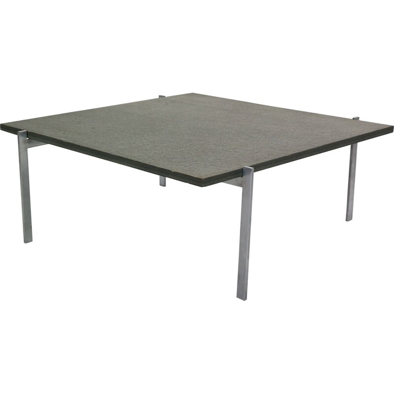 Vintage Coffee Table Poul Kjaerholm PK61 for E. Kold Christensen, Denmark, 1950