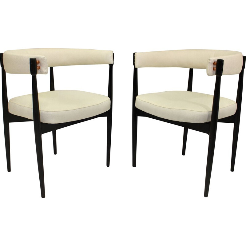 Pair of vintage beech chairs 1950s