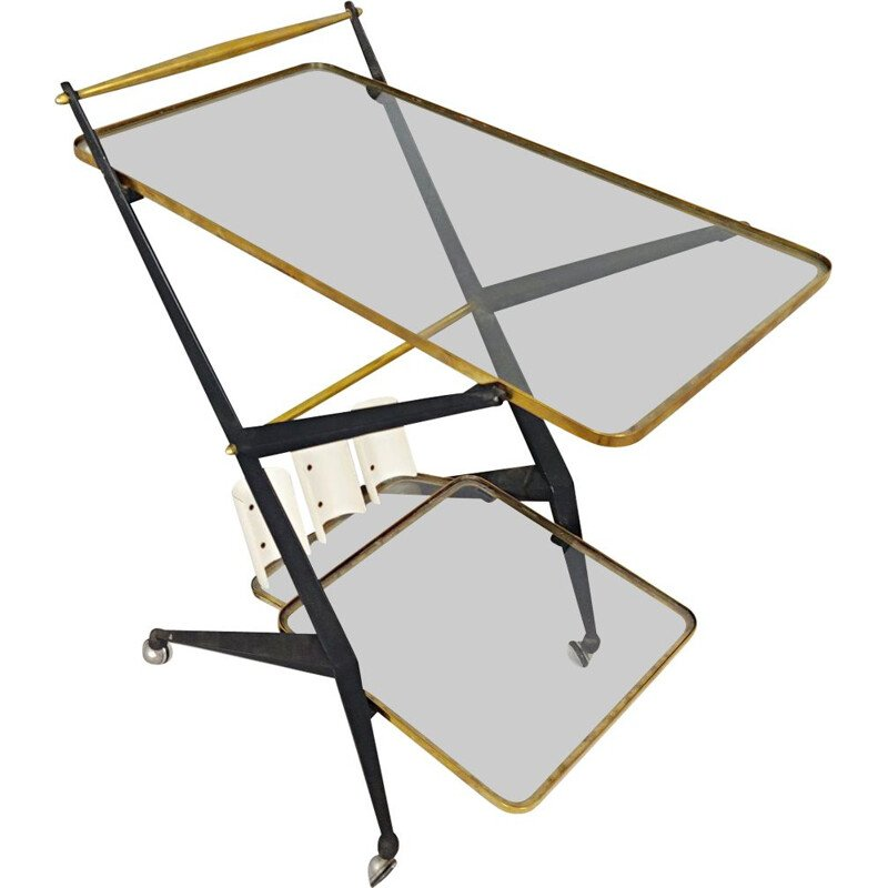 Vintage serving trolley by Angelo Ostuni Italy 1950