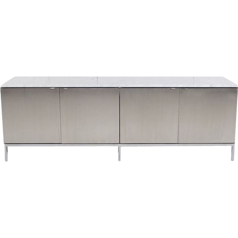 Vintage marble sideboard by Florence Knoll from Carrara 1960