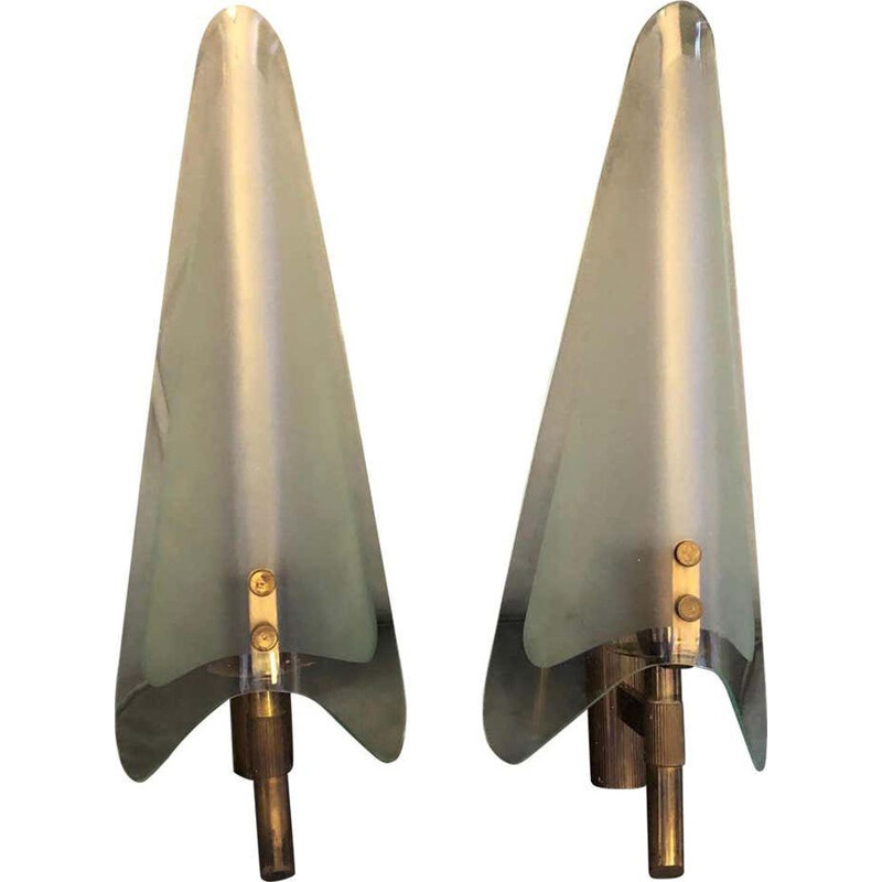 Pair of vintage modern wall wconces 1950
